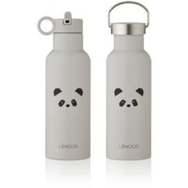 Liewood Neo Waterbottle Drinkfles - Panda Light Grey (500ml)