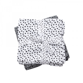 Done by Deer Hydrofiele doek Happy Dots - Grijs (set van 2)