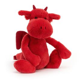 Jellycat Bashful Knuffel Draak - Red Dragon (31 cm)