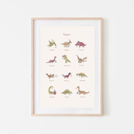Mushie Poster Large - Dino