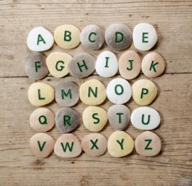 Yellow Door Letter Stenen -  Hoofdletters Alfabet (26 stuks) + 2jr
