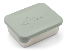 Liewood Lunchtrommel RVS Ako Lunchbox - Dino Dusty Mint