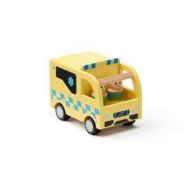 Kids Concept Aiden Gele Ziekenwagen +3jr