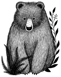 Lilipinso Romanian Hills Muursticker XL - Baby Bear