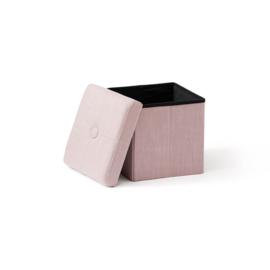 Kids Concept Opbergkist Poef - Roze/Paars