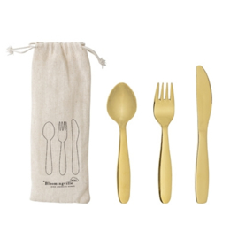 Bloomingville Kinderbestek Set RVS Cutlery Stainless Steel - Goud