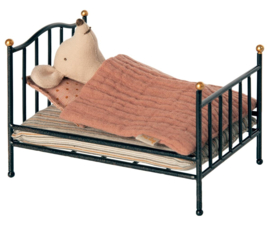 Maileg Vintage Bed Mouse Poppenhuis - Antracite
