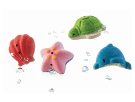 Plantoys Houten Badspeeltjes - Sea Life (4 stuks)