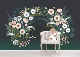 Lilipinso Wonderland Behang - Flowers Light