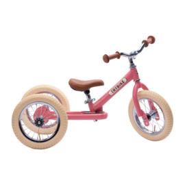 Trybike Steel 2-in-1 Loopfiets - Vintage Roze