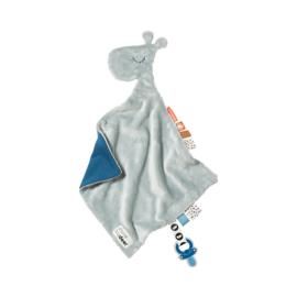 Done by Deer Knuffeldoek Comfort Blanket Giraf Raffi - Blauw
