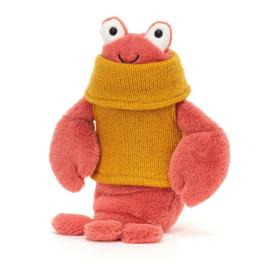 Jellycat Cozy Crew Lobster - Knuffel Kreeft (21 cm)