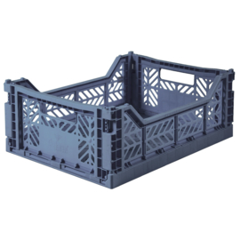 AyKasa Folding Crate Midi Box - Cobalt Blue