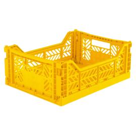 AyKasa Folding Crate Midi Box - Yellow