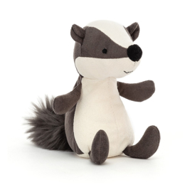 Jellycat Suedetta Badger - Knuffel Das (13 cm)