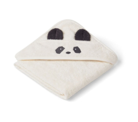 Liewood Albert Badcape - Panda Creme Wit (70x70 cm)