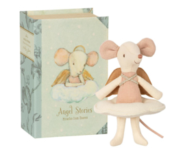 Maileg Angel Stories Big Sister Angel Mouse in Book (12 cm)