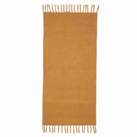 KidsDepot Vloerkleed Hette PET Polyester - Oker Geel (70x140cm)