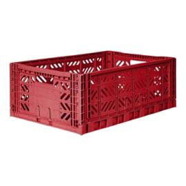 AyKasa Folding Crate Maxi Box - Tile Red