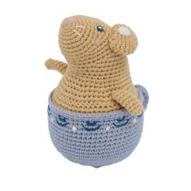 Sebra Gehaakte Tuimelaar Muis - Buttercup the Mouse (op=op)