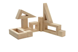 Plantoys Houten Holle Blokken - Naturel