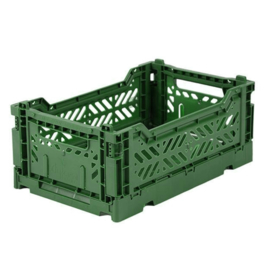 AyKasa Folding Crate Mini Box - Dark Green