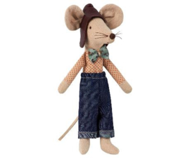 Maileg Dad Mouse, Racer Dad (13 cm)