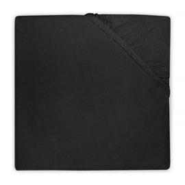 Jollein Hoeslaken Ledikant Jersey - Zwart (60 x 120 cm)