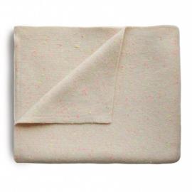 Mushie Deken Knitted Confetti Baby Blanket - Peach