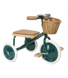 Banwood Trike Driewieler - Groen (incl. rieten mandje en duwstang)