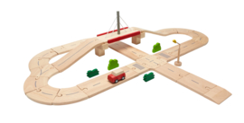 Plantoys Road System Houten Wegen Set + 3jr