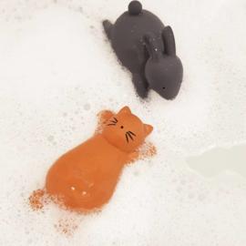 Liewood Vikky Bath Toys - Cat Mustard (2 stuks)