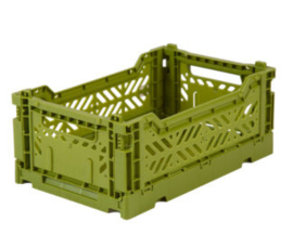 AyKasa Folding Crate Mini Box - Olive