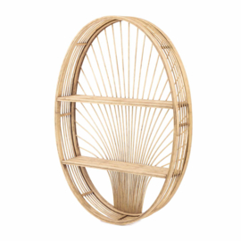 KidsDepot Wandrek Messa Rotan Ovaal - Naturel