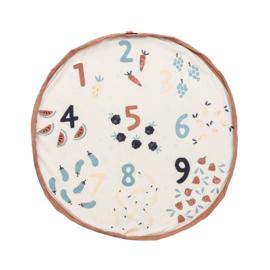 Play and Go Speelgoedkleed en opbergzak - Veggie Numbers (dubbelzijdig)