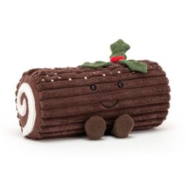 Jellycat Kerst Knuffel Chocolade Rolletje - Amuseable Yule Log (21 cm)