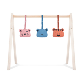 Jollein Babygym Speeltjes Animal Club - Rouge (set van 3)