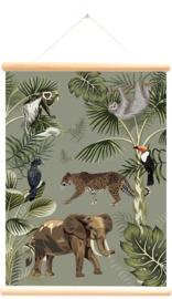Little and Pure Schoolplaat The Big Five Forest - Groen (dubbelzijdig)