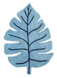 Lilipinso Tanzania Vloerkleed - Monstera Blue Leaf