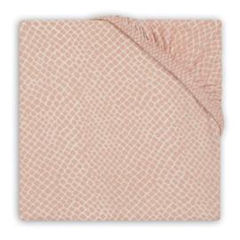 Jollein Hoeslaken Wieg Jersey Snake - Pale Pink (40 x 80/90 cm)