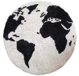 KidsDepot Vloerkleed El Mundo - Wereldbol (Ø 110cm)