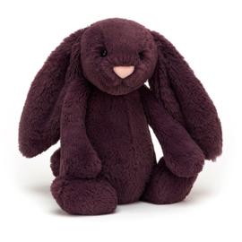 Jellycat Bashful Bunny Plum Medium - Knuffel Konijn (31 cm)