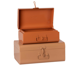 Maileg Metalen Kofferset Type 2 - Powder/Rose (set van 2)