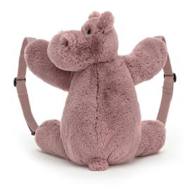Jellycat Rugzak Nijlpaard - Huggady Hippo Backpack
