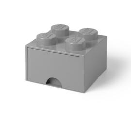 Lego Opbergbox met lade Brick 4 - Grijs