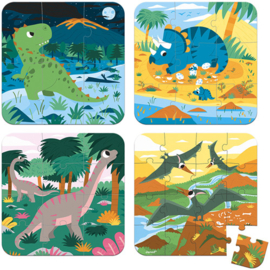 Janod Puzzel - Dinosaurus (4 in 1) (vanaf 3 jaar)