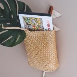 Olli Ella Hanging Book Basket - Naturel