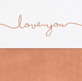 Jollein Ledikant Laken Love You - Caramel (120 x 150 cm)