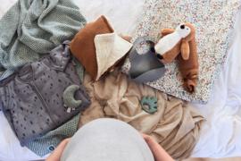 Jollein Deken Teddy Bliss Knit - Caramel (75 x 100 cm)