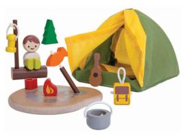 Plantoys Houten Camping Set - Kampeerterrein